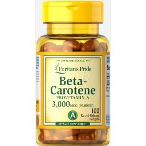 Бета каротин, Beta-Carotene, Puritan's Pride, 10,00 МЕ, 100 гелевых капсул