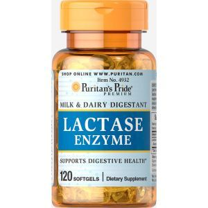 Лактаза, Lactase Enzyme, Puritan's Pride, 125 мг, 120 капсул