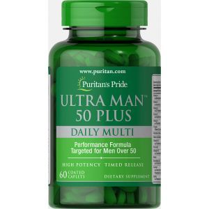 50 +, Ultra Man™ 50 Plus, Puritan's Pride, 60 капсул