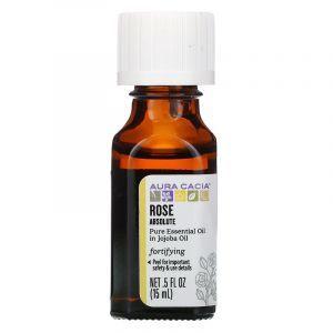 Абсолют роза в масле жожоба (Rose In Jojoba Oil), Aura Cacia, 15 мл (Default)