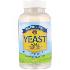 Пищевые дрожжи, Nutritional Yeast, KAL, 500 таблеток (Default)