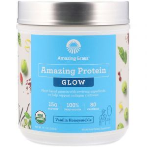 Чудопротеин, сияние и молодость, Amazing Protein, Amazing Grass, ваниль, 315 г (Default)