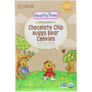 Печенье для детей от года, Hugga Bear Cookies, Chocolate Chip, Organic, Healthy Times, 184 г. (Default)