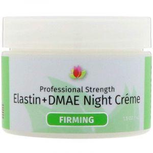 Ночной крем для лица и декольте с коллагеном и эластином, Night Cream, Reviva Labs, укрепляющий, (42