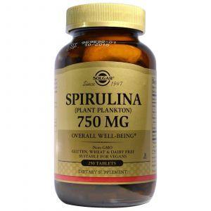 Спирулина,Solgar, 750 мг, 250 таблето