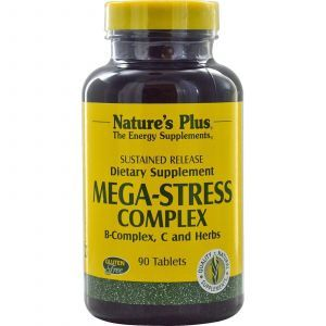 Мега-Стресс, комплекс, Nature's Plus, 90 таблет