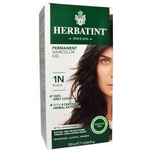 Краска для волос, Herbatint, 1N, черный, 135 мл.