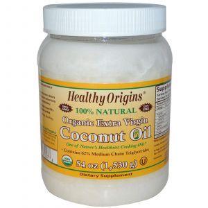 Кокосовое масло, Healthy Origins, органическое, 1530