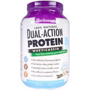Сывороточный протеин с казеином, Protein Whey Casein, Bluebonnet Nutrition, французская ваниль, 952 г (Default)