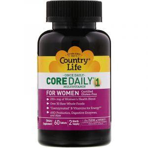 Витамины для женщин, Multivitamins, Country Life, 1 в день, 60 таблеток (Default)