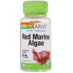 Красные водоросли, Red Marine Algae, Solaray, 375 мг, 100 капсул. (Default)