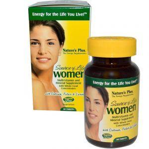 Мультивитамины для женщин, Multi-Vitamin and Mineral, Nature's Plus, Source of Life, 60 таблеток (Default)