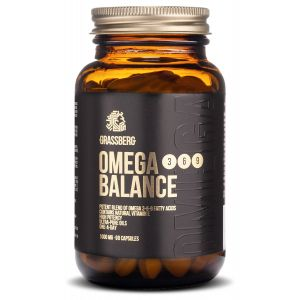Омега 3-6-9, Omega 3-6-9 Balance, Grassberg, 1000 мг, 90 капсул