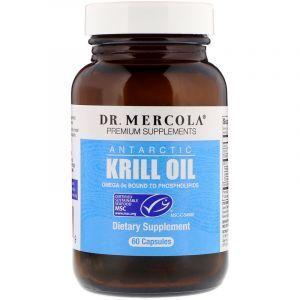 Масло криля арктического, Krill Oil, Dr. Mercola, 60 кап.