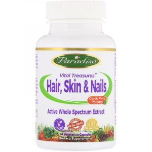 Витамины для кожи и волос, Healthy Hair & Skin, Paradise Herbs, 60 к (Default)