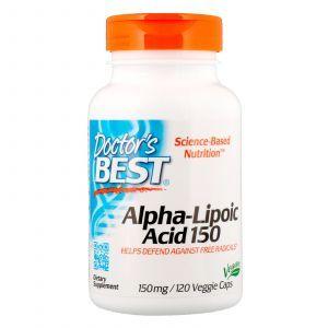 Альфа-липоевая кислота, Alpha Lipoic Acid, Doctor's Best, 150 мг, 120 кап. (Default)