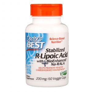 R липоевая кислота, R-Lipoic Acid, Doctor's Best, 200 мг, 60 капсул (Default)