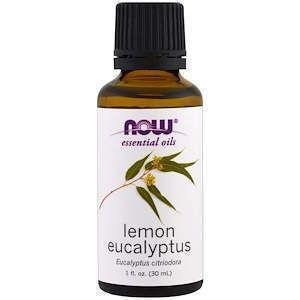 Масло лимонного эвкалипта, Essential Oils, Lemon Eucalyptus), Now Foods, 30 мл