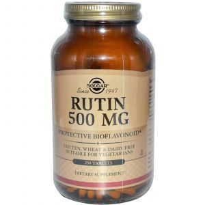 Рутин, Solgar, 500 мг, 250 таблето