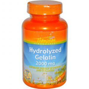 Гидролизат желатина, Thompson, 2000 мг, 60 таб.