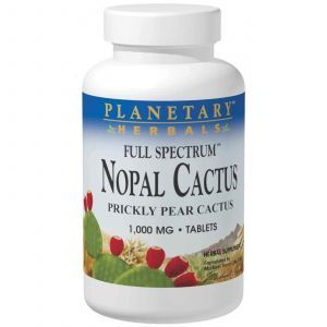 Нопал кактус, Planetary Herbals, 1000 мг, 120 таб.