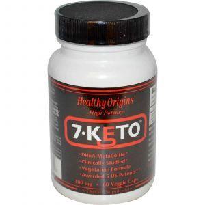 7 кето Дегидроэпиандростерон, Healthy Origins, 100 мг, 60