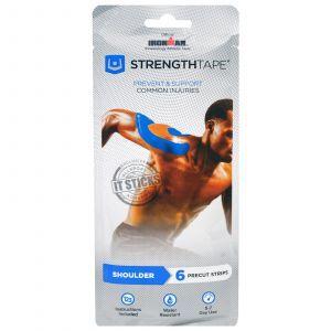Strengthtape, Kinesiology Tape Kit, Shoulder, 6 Precut Strips