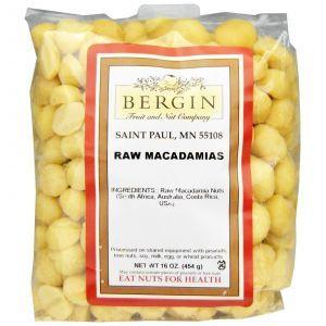Сырые орехи макадамия, Bergin Fruit and Nut Company, 454 г