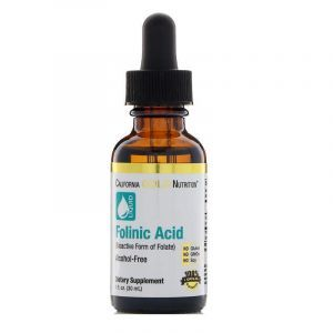 Фолиновая кислота, Folinic Acid, California Gold Nutrition, без спирта, 30 мл