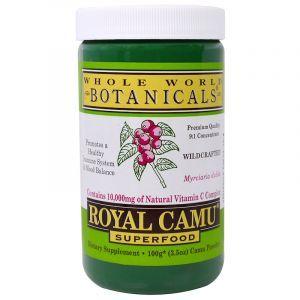 Каму-каму (витамин-С), Royal Camu Powder, Whole World Botanicals, 100 г (Default)
