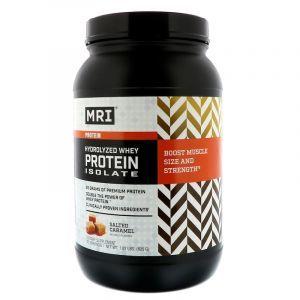 Сывороточный протеин, изолят гидролизованный, Whey Protein Isolate, MRI, соленая карамель, 825 г
