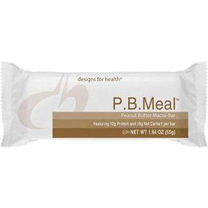 Протеиновые батончики, P.B. Meal, Designs for Health, арахисовое масло, 12 батончиков по 55 г каждый