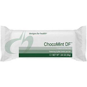 Протеиновые батончики, ChocoMint DF, Designs for Health, мятный шоколад, 12 батончиков по 55 г каждый