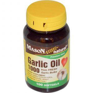 Чесночное масло, Mason Vitamins, 1000, 100 капсул