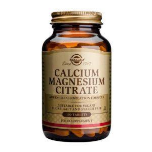 Цитрат кальция магния, Calcium Magnesium Citrate 200/100 mg, Solgar, 100 таблеток (Default)