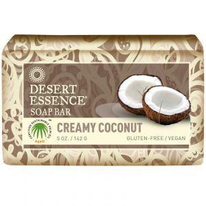 Мыло сливочный кокос, Desert Essence, 142 гр.
