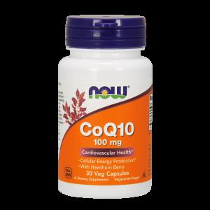 Коэнзим Q10, Coenzyme Q10, Now Foods, 100 мг 30 капсул