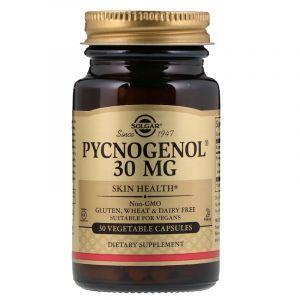 Пикногенол, Pycnogenol, Solgar, 30 мг, 30 капсул (Default)