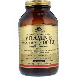 Витамин Е, Natural Vitamin E, Solgar, 400 МЕ, 250 капсул (Default)