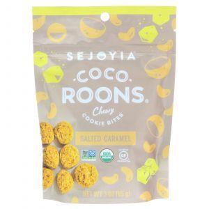 Печенье со вкусом соленой карамели, Coco-Roons, Chewy Cookie Bites, Sejoyia, 85 г (Default)