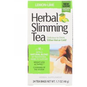 Зеленый чай для похудения (лимон, лайм), Herbal Slimming Tea, 21st Century, 24 пак., 45 г (Default)