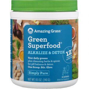 Суперфуд, Green SuperFood, Amazing Grass, очищение организма, 240 г (Default)