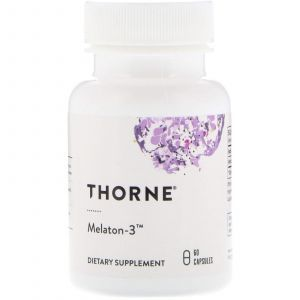 Мелатонин-3, Melaton-3, Thorne Research, 60 капсул (Default)