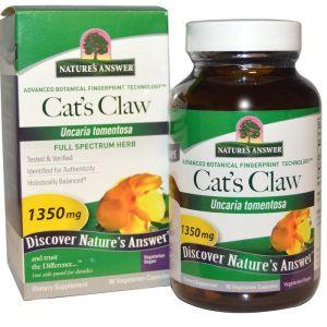 Кошачий коготь (Cat's Claw), Nature's Answer, 1350 мг, 90 капсул (Default)