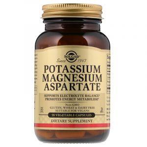 Магний и калий аспартат, Potassium Magnesium, Solgar, 90 капсул (Default)