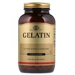 Гидролизат желатина, Natural Gelatin, Solgar, 250 капсул (Default)