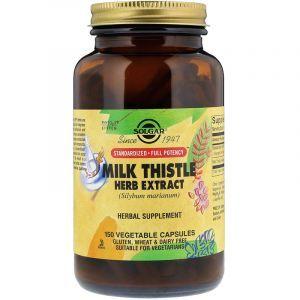 Экстракт расторопши (Milk Thistle), Solgar, 150 капсул (Default)