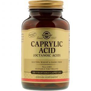 Каприловая кислота, Caprylic Acid, Solgar, 100 капсул (Default)