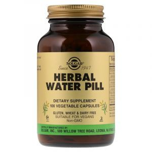 Мочегонное средство, Herbal Water Pill, Solgar, 100 капсул (Default)