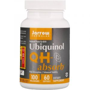 Коэнзим (убихинол), Ubiquinol QH-Absorb, Jarrow Formulas, 100 мг, 60 капсул (Default)